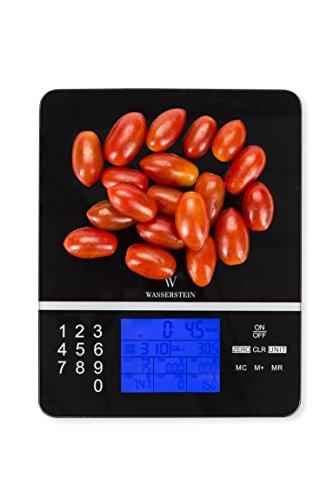 Wasserstein Digitale Nährwert-Analysewaage - Anzeige der Nährwerte - Genauer Lebensmittel- und Diät Küchenwaage