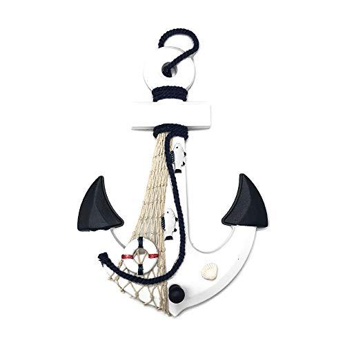LIOOBO 200 piezas de colgantes de ancla de barco de madera n/áutica encantos para adornos de fabricaci/ón de joyas para botones artesanales de 25x20 mm color aleatorio
