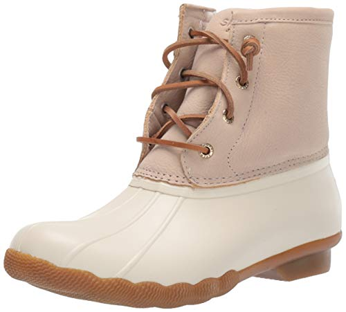 Sperry Womens Saltwater Boots, Ivory, 7.5