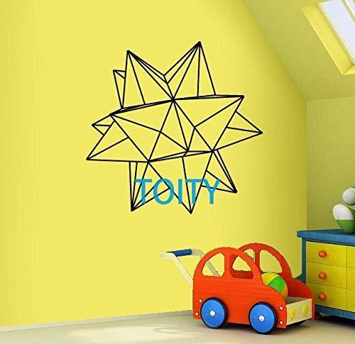Origami Star Geometric Wall Decal Vinyl Sticker Art Decor Dormitorio D74X74Cm