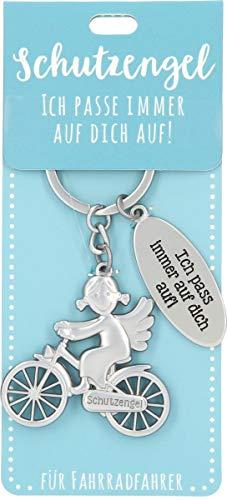 Depesche 11343-011 Schutz-Engel Schlüssel-Anhänger für Männer und Frauen aus Metall, Glücksbringer für Fahrrad-Fahrer, ideal als kleines Geschenk für die Liebsten unterwegs