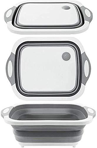 Tabla de cortar Tabla de corte plegable multifuncional cocina plástico plástico plato plato plato portátil colador de colador lavado y drenaje fruta vegetal cesta de lavado Tabla de cortar de cocina