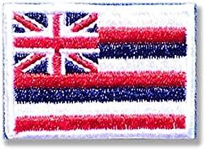 ハワイ 州旗 / アイロン ワッペン (ミニ 約24mmx33mm)