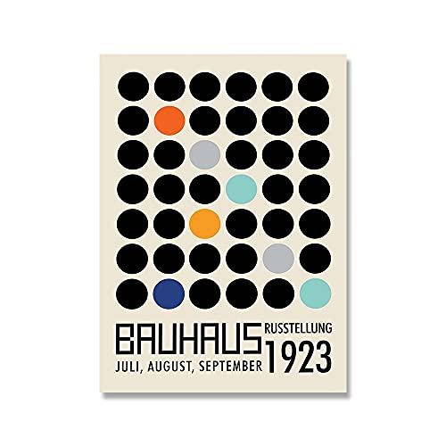 Bauhaus 1923 exposición única imagen de arte de pared geométrica retro minimalista impresión de cartel sin marco pintura de lienzo A3 50x70cm