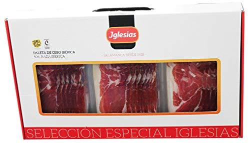 IGLESIAS ASI DA GUSTO - Maletín Paleta de Cebo Ibérica (50% Raza Ibérica) 1.5 kg Loncheada (15 Sobres de 100g/Unidad) + 0.48 Kg Huesos Troceados