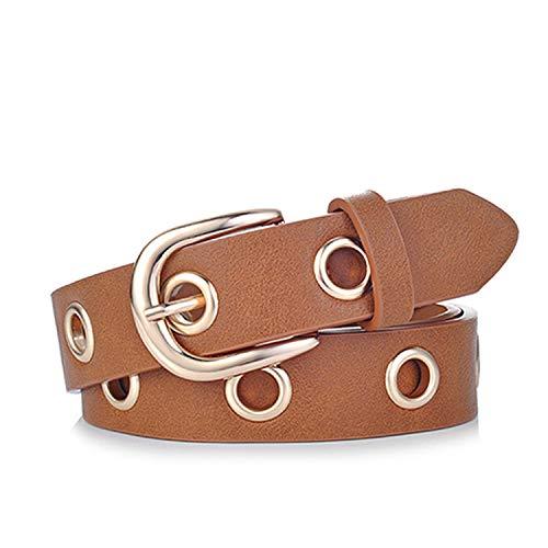 2019 fashion Belts for Women Grommet Duo euramerican style designer pu Leather strap,promotion cognac,130cm