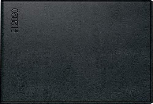 rido/idé 701752390 Taschenkalender Septimus (2 Seite = 1 Woche, 152 x 102 mm, Kunststoff-Einband Skivertex, Kalendarium 2020) schwarz