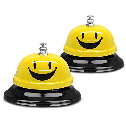 Call Bells, VAGREEZ Customer Service Bell 3.3 Inch Call Bell for Classroom Office Reception Hotel Restaurant Use (2)