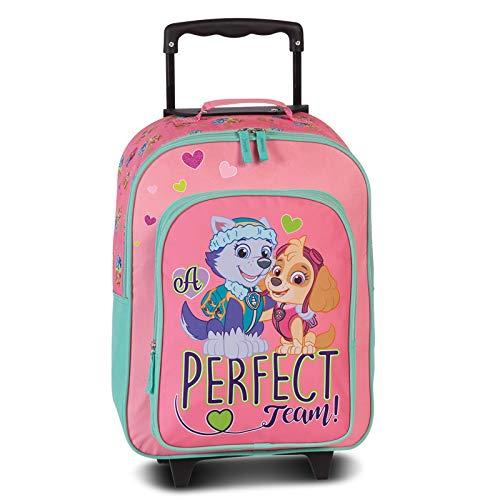 Fabrizio Kids Paw Patrol Children's Trolley 2 Wheels XS 42 cm Soft Luggage Pink