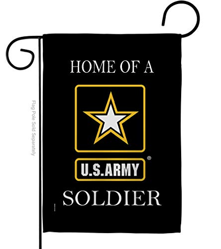 US Army Army Soldier House Flag Pack Armed Forces Rangers United State American Military Veteran Retire Official Vintage Applique Banner Small Garden Yard Lawn Proch, Made in USA