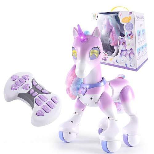 HaiMa Intelligent Remote Control Elettrico Pet Unicorn Elettronica Touch-Sensibile Bambini Giocattoli Educativi - Mauve