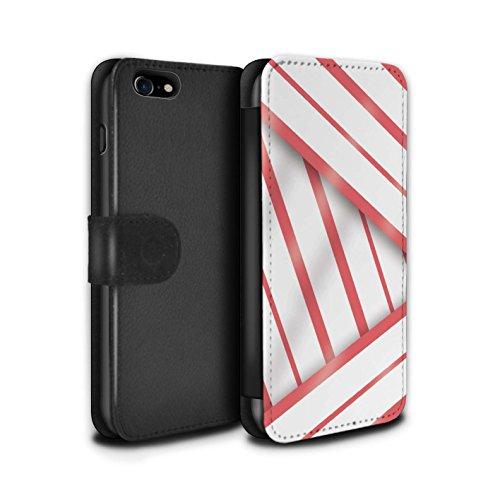 Telefoonhoesje Portemonnee voor Apple iPhone SE 2020 Seaside Mode Koraal Jurk Ontwerp Flip Faux PU Lederen Cover Magnetische Sluiting Card Slots