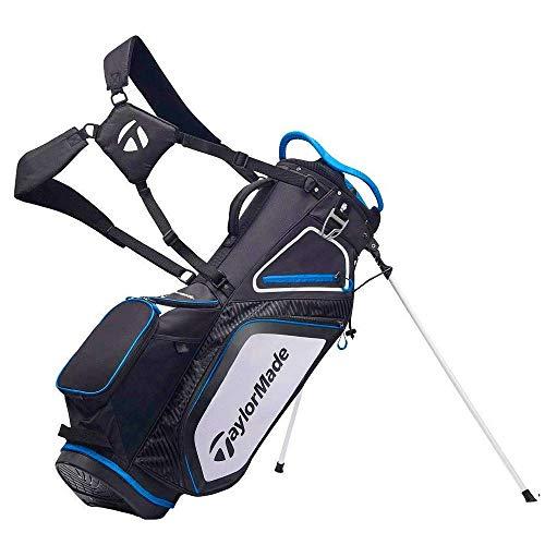 TaylorMade Pro Stand 8.0 Golftasche (2020 Version), Unisex, Tasche mit Ständer, schwarz / weiß / blau, Einheitsgröße
