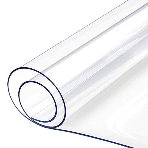 Voberry New Transparent PVC Tischdecke Tischschutz hochwertig Tischfolie Tischabdeckung Küche glasklar abwaschbar wasserdicht, Breite & Länge wählbar, 60x60 cm