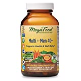 MegaFood, Multi for Men 40+, Supports Optimal Health and Wellbeing, Multivitamin and Mineral Supplement, Gluten Free, Vegetarian, 120 Tablets