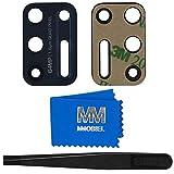 MMOBIEL Reemplazo de Lente para cámara Trasera (Posterior) Compatible con Motorola Moto G9 Plus 2020 6.81 Inch Indigo Blue Incluyendo Pinzas y Tela