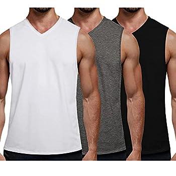 COOFANDY Men s Sleeveless Shirts Pack Gym Tank Tops Undershirts Fitness Training Workout Shirts Bodybuilding Gym Athletic Jogging Running Tank T Shirts