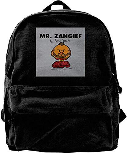 Homebe Mochila antirrobo Impermeable,Canvas Backpack Mr Zangief Street Fighter Mr Men Rucksack Gym Hiking Laptop Shoulder Bag Daypack for Men Women