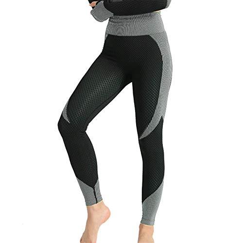 ayingzhenxiao Abbigliamento Sportivo per Lo Yoga da Donna Allenamento in Palestra Cerniera Manica Lunga Palestra Top + Vita Alta Cuciture Senza Cuciture Leggings Consegna Veloce L Blackwhitepants1