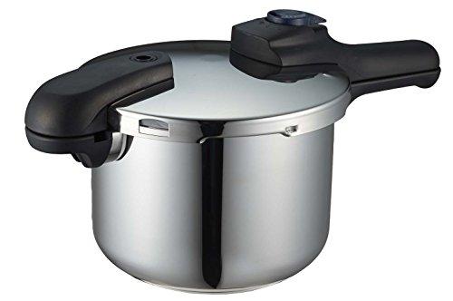 パール金属 圧力鍋 4.5L IH対応 3層底 切り替え式 レシピ付 クイックエコ H-5041