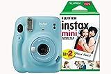 Fujifilm Instax Mini 11 Instant Camera including 20 Shots - Sky Blue