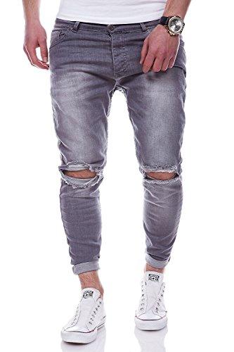 MT Styles Destroyed Jeans Hose RJ-3215 [Grau, W30/L32]