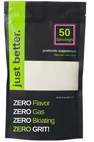 Prebiotic Fiber Supplement for a Healthy Gut | Fiber Powder with Zero Grit Zero Taste and No Bloating or Gas | Feel Full Faster | Keto Non-GMO Gluten Free Vegan 50 Servings