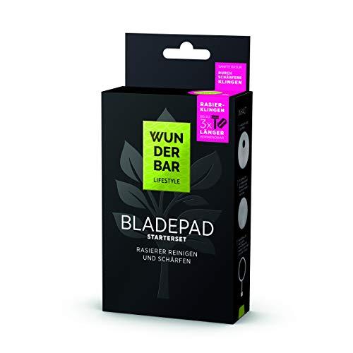 Bladepad Starterset Rasierklingen Reiniger, Schärfer und Halter für alle Marken