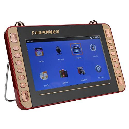 Draagbare draadloze luidspreker, 10 inch dvd-speler Luidsprekerondersteuning USB- en TF-kaart, videoradio zingende karaokemachine met helder geluid voor cadeau.