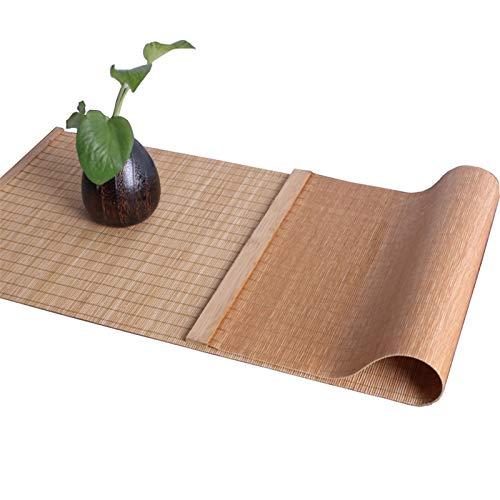 JLCP Tischläufer, Verschiedene Größen Natürlicher Bambus Esstisch Läufer Hitzebeständig Weihnachtshaus Küche Esszimmer Dekor Tischsets,30 X 90cm(12