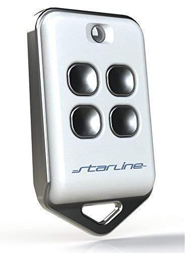 STARLINE RADIOCOMANDO Universale Twin AU4T 433 MHz codice Fisso 4 Tasti, Made in Italy, (No Rolling-Code) riprogrammabile con batterie lunghissima Durata,Funziona già a 200 Metri.
