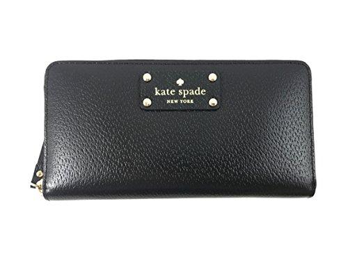 Kate Spade New York Wellesley Neda Zip-Around Wallet (Black), Large
