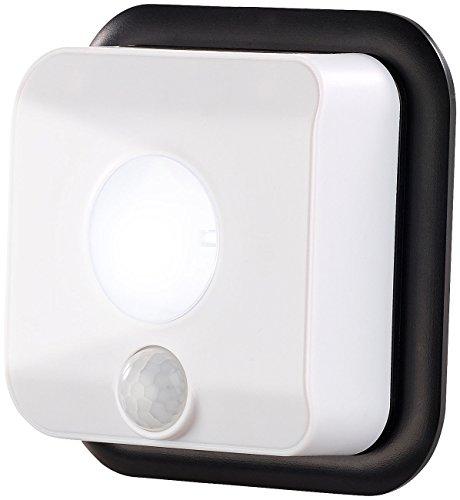 PEARL Wandlampe mit Batterie: Batterie-LED-Wandleuchte, Licht- & Bewegungsmelder, 110 lm, 160 Tage (Wandleuchte batteriebetrieben)