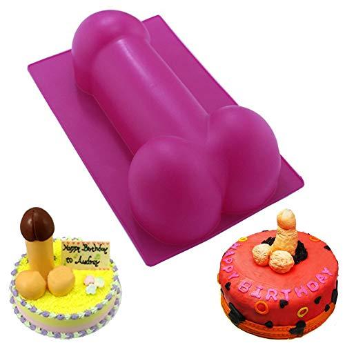 Nouveauté moules à gâteaux silicone drôle moule à gâteaux fête anniversaire présente cuisine outils de cuisson