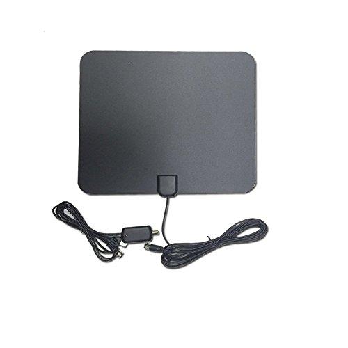 genovación TV-Antenne, Antenne DVB-T/DVB-T DVT verstärkte für Digital TV Antenne HDTV 1080p, HF/UHF/FM Empfang Optima 50km, Antenne Innen und Außen ideal für Urlaub und Camper, 4m Kabel