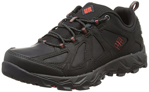 Columbia Homme Chaussures Multisport, Imperméable, PEAKFREAK XCRSN II LOW LEATHER OUTDRY, Taille 41, Noir (Black, Super Sonic)