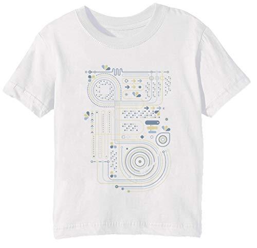 Circuito 2 Niños Unisexo Niño Niña Camiseta Cuello Redondo Blanco Manga Corta Tamaño 3XS Kids Boys Girls White XXX-Small Size 3XS