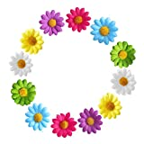 12pcs Women Girls Yellow Daisy Hair Clips Mini Sunflower Hairpins for Bridesmaid Wedding Hair Accessory (Multi-colored)