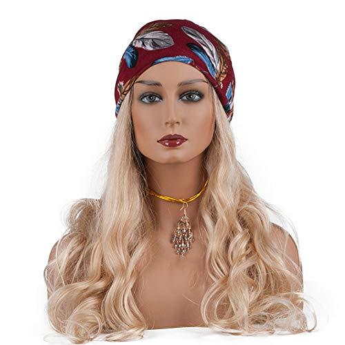 ZXCASD PVC Femelle Buste Tête Mannequin avec Épaules pour Affichage des Perruques, Chapeaux, Écharpes Peut Porter des Boucles d'oreilles