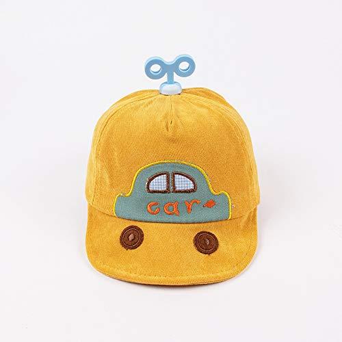 Sombrero para niños para otoño e Invierno Nueva versión Coreana de algodón Puro Llave de Coche Gorra de bebé de ala Suave Gorro de bebé cálido