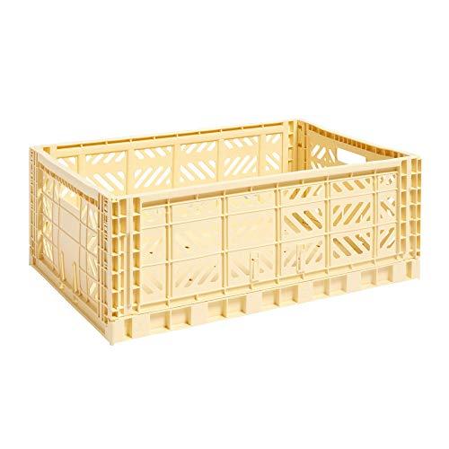 HAY Transportbox gelb aus Polypropylene, 507682, hellgelb/Polypropylen/faltbar, stapelbar/lxbxh 60x40x22cm