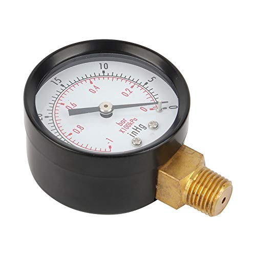 2-Zoll-Unterdruckmanometer für Luftkompressor, 1pc