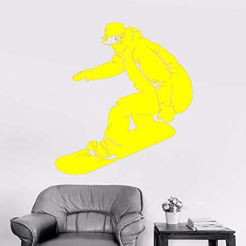 Kunst Wandaufkleber Snowboard Wandaufkleber Abnehmbare Vinyl Kunst Poster Snowboarder Extreme Aufkleber Wandbild Athlet Decor ~ 1 42 * 50 CM