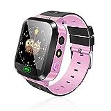 FairOnly Smart Watch Reloj Multifuncional para niños, Reloj de Alarma, Reloj para bebés con monitoreo Remoto para niños Pink