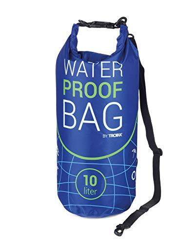 Troika Outdoor-Tasche für Wassersport, Angeln, Schwimmen, Wandern, Camping, Waterproof Bag, blau