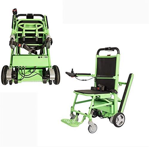 Silla de ruedas eléctrica Subir escaleras eléctrica silla de ruedas, silla de ruedas de oruga escalada con baterías de litio plegables fáciles 80 Escaleras arriba y hacia abajo compatible con 180Kg Vi