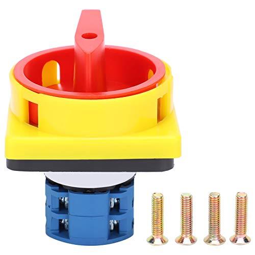 Interruptor giratorio de 200‑380 V, interruptor de leva giratorio, interruptor de cambio giratorio universal Interruptores de leva eléctricos de tipo posicionamiento IP40 para interruptor de encendido