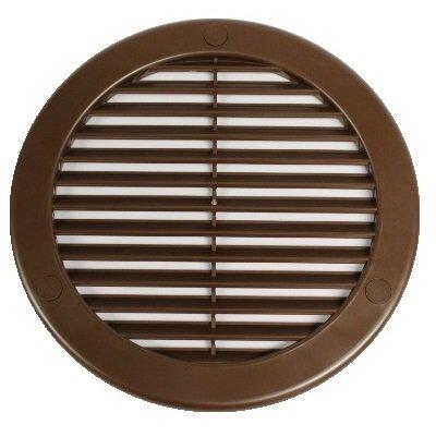 cuisine diam/ètre 75/100/110/125/150/mm Grille de ventilation ronde /à lamelles avec moustiquaire Pour garage salle de bain /Ø 150 mm Acier inoxydable