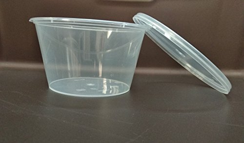 100 X 500ml Plastic Round Containers Tub Pots & Lids Clear Microwavable, Freezer Friendly Safe Food Takeaway