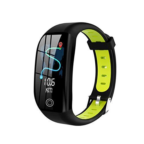 LYB Pulsera de fitness para BT4.0, monitor de sueño de presión arterial de ritmo cardíaco, IP68, resistente al agua, reloj de pulsera inteligente (color: verde)